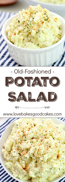 Old-Fashioned Potato Salad collage.