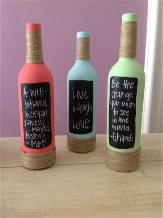 10 Cool DIY Bottle Decor Ideas You Should Not Miss