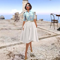 -sb Contraire (blue) Izzies Bow & Pearl necklace GG Bow & Pearl Earrings [hh] Elfina Heels_002