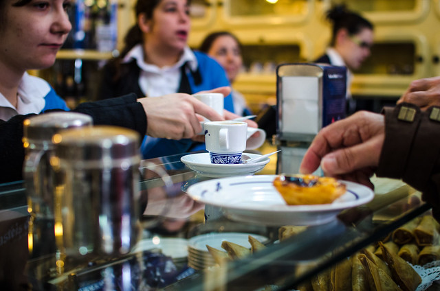 It's always busy at Pasteis de Belém, but don't let the crowds stop you.