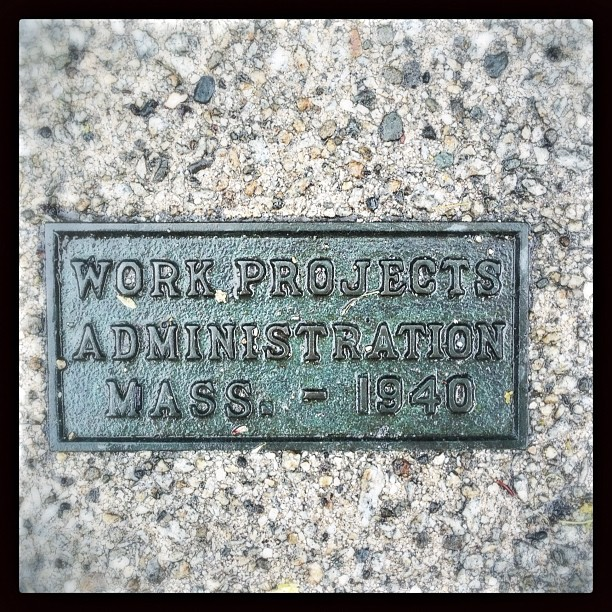 Sidewalk plaque discovered on my evening stroll.
