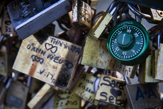 Paris locks of love