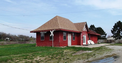 station depot cnw chicagonorthwesternrailroad traeriowa