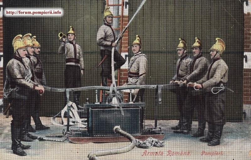 Pompierii militari romani 1910