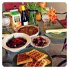 Mother's Day Brunch! Mimosas, Bleu Cheese Stuffed Bacon-Wrapped Dates, Homemade Waffles, Mushroom & Onion Quiche, Mixed Greens Salad