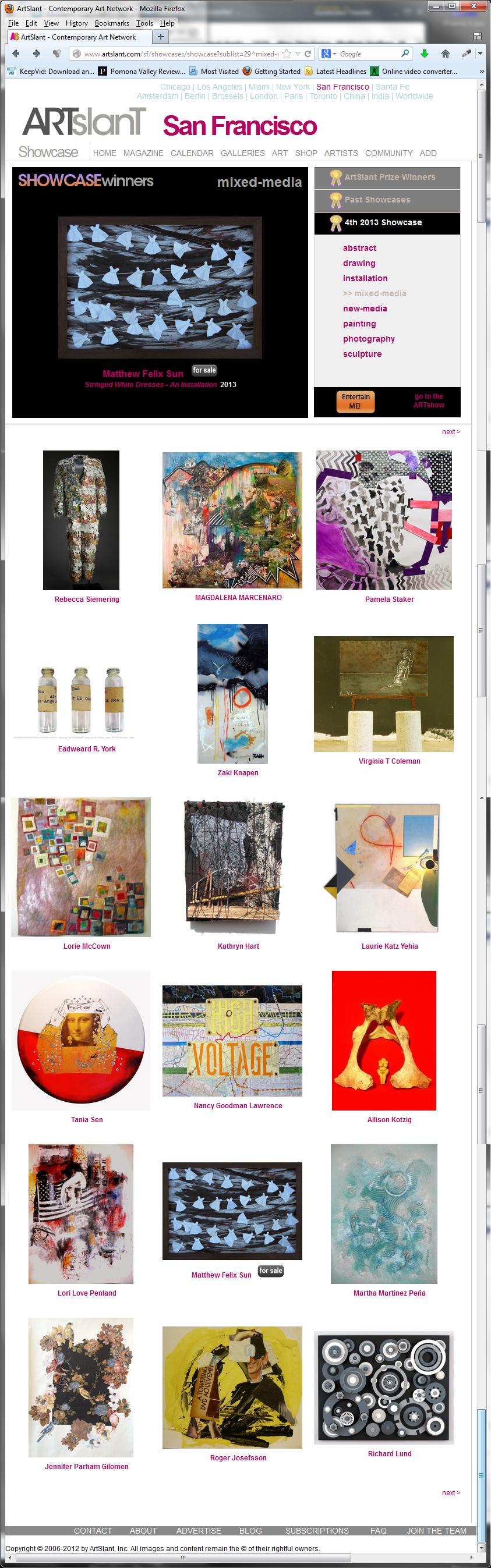 Stringed White Dresses - ArtSlant Showcase Award