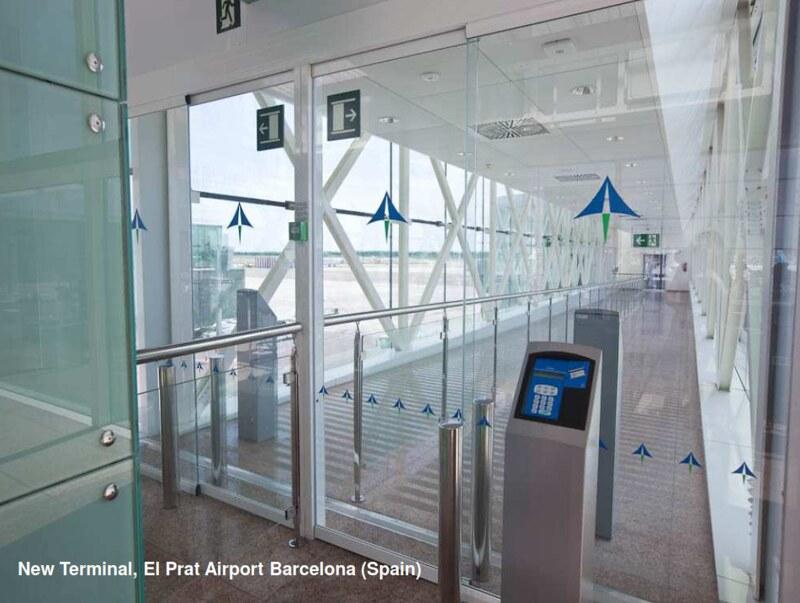 автоматические двери для аэропорта Manusa