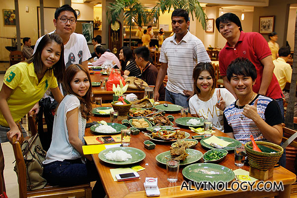 Group dinner with my travel group before heading back Singapore