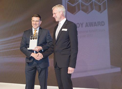 IFOY Award 2013 voor Crown truckbeheersysteem