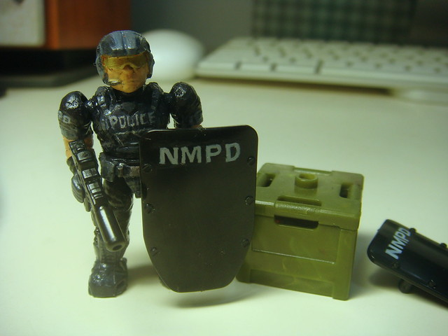 NMPD Police with riot shield! 9089772713_c2b0d4a0e6_z