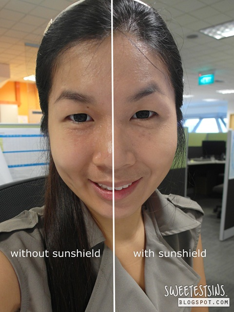 est lab sunshield before and after