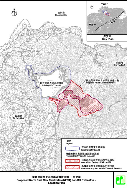 東北堆填區工程圖