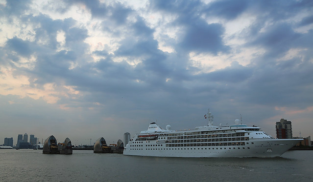 Cruise ships passing Greenwich this week