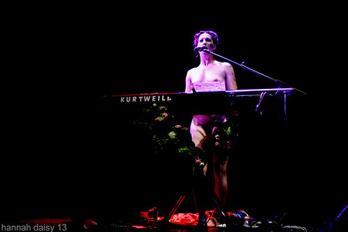 Amanda Palmer (during the Daily Mail song) @ The Roundhouse, Camden, 12/7/13