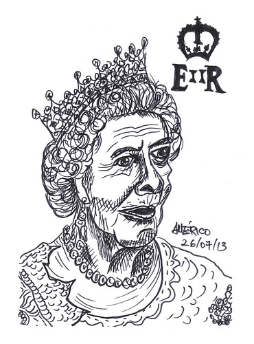 Queen Elizabeth II, Queen of England by americoneves