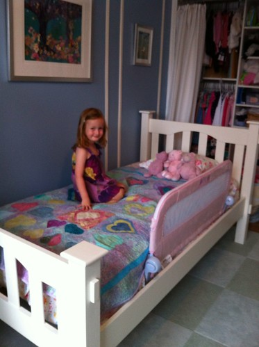 Pretty proud of her new big-girl bed