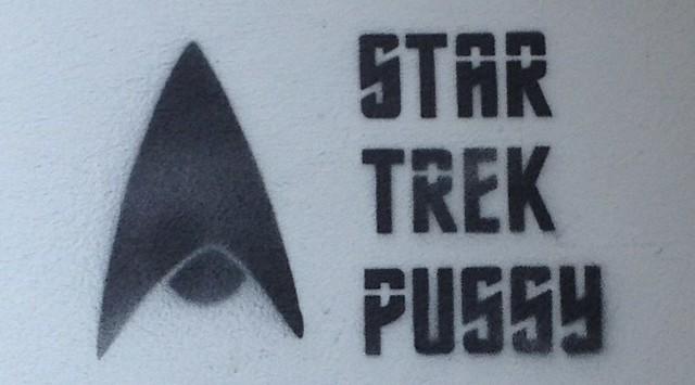 """An einer Grazer Hauswand gesehen: """"Star Trek Pussy"""""""