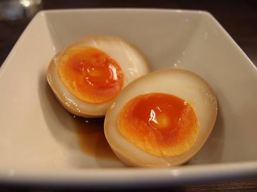 Soft boiled egg @ YunRinBou Tantan-men restaurant @ Kanda