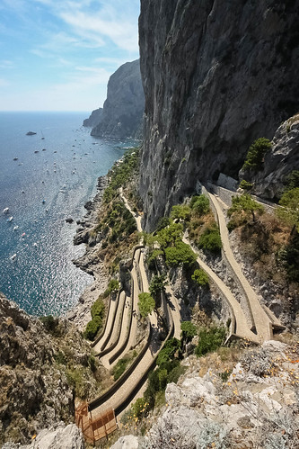 sea italy mountain seascape capri campania path winding 500d marinapiccola ultrawideangle giardinidiaugusto viakrupp lacertosa sigma816mmf4556