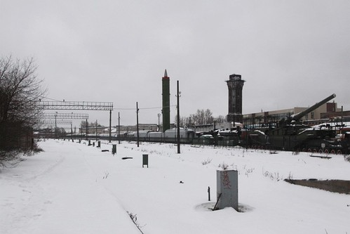 Abandoned platforms beside the railway museum