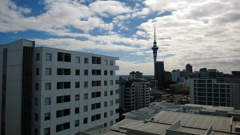 Auckland hostel room view