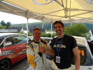 Ronald Holzer mit Immo Michel am Opel ADAM Cup