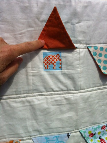 Fly the Flag Quilt - Aqua version peek-a-boo