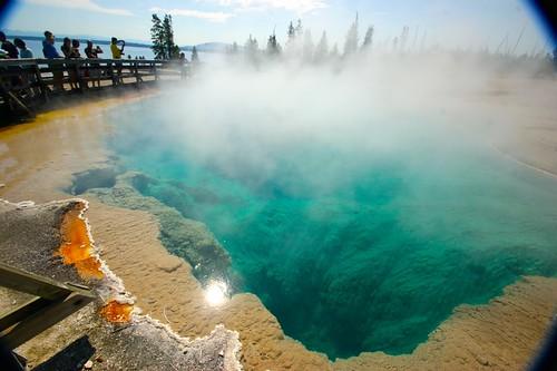 Black Pool, West Thumb Geyser Basin, Yellowstone National Park, Wyoming