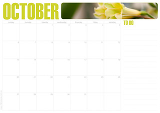 74 Lime Lane // October calendar