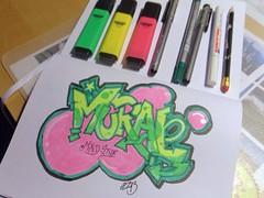 Graffiti mit Textmarkern