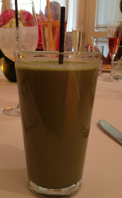 Blueberry-spinach smoothie, Eastern Standard