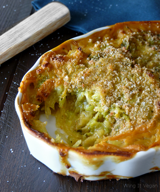 Spaghetti Squash and Broccoli Casserole