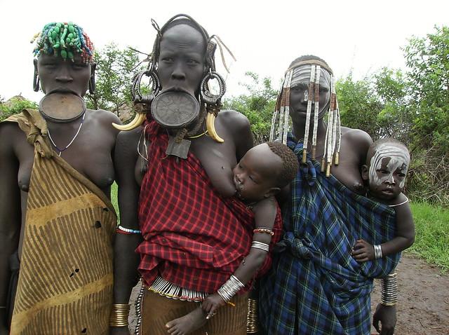 Ethiopia, Mago NP, Omo Valley, Mursi Tribe
