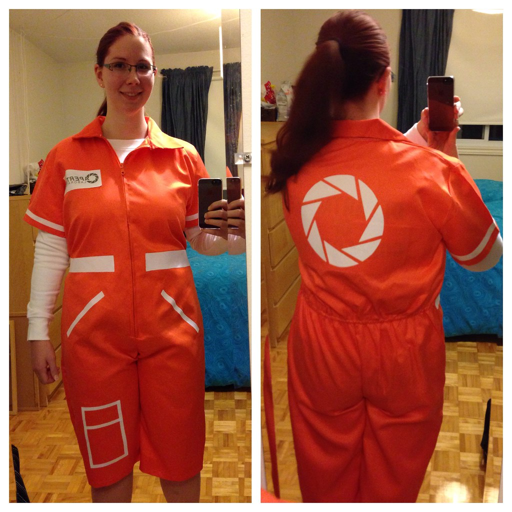 Chell Halloween Costume Portal 1 For Lily We Also Made L
