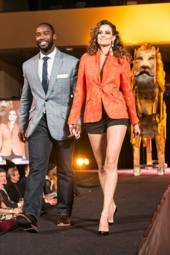 Pierre Garcon walking with professional model. Photo by: Naiffer Romero