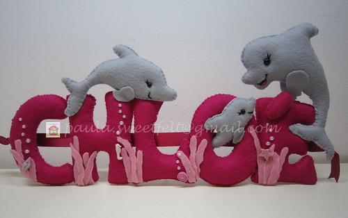 ♥♥♥ Golfinhos para a Chloé ... by sweetfelt \ ideias em feltro