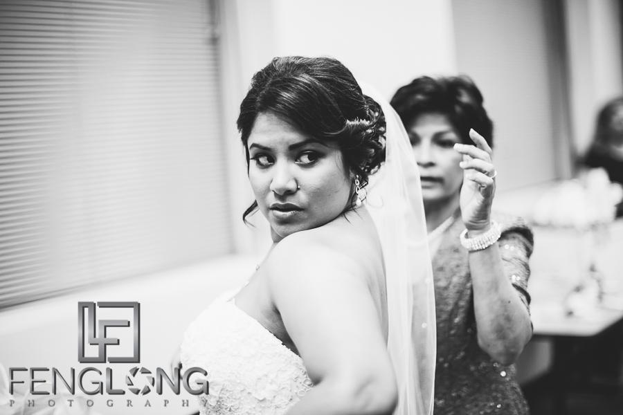Indian bride getting ready at Atlanta History Center