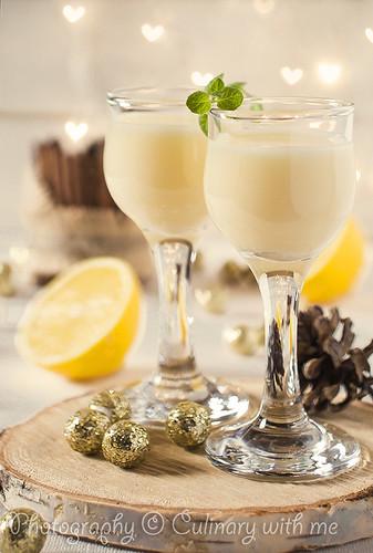 Vanilla lemon liqueur