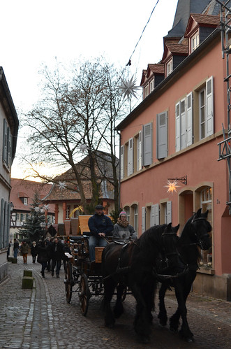 Weihnachtsmarkt Freinsheim horse drawn carriage