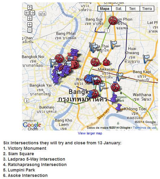 Manifestações Bangkok