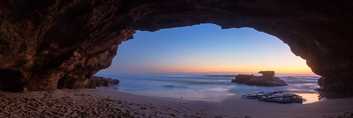 ocean panorama beach sunrise dawn pano australia caves newsouthwales 31 cavesbeach