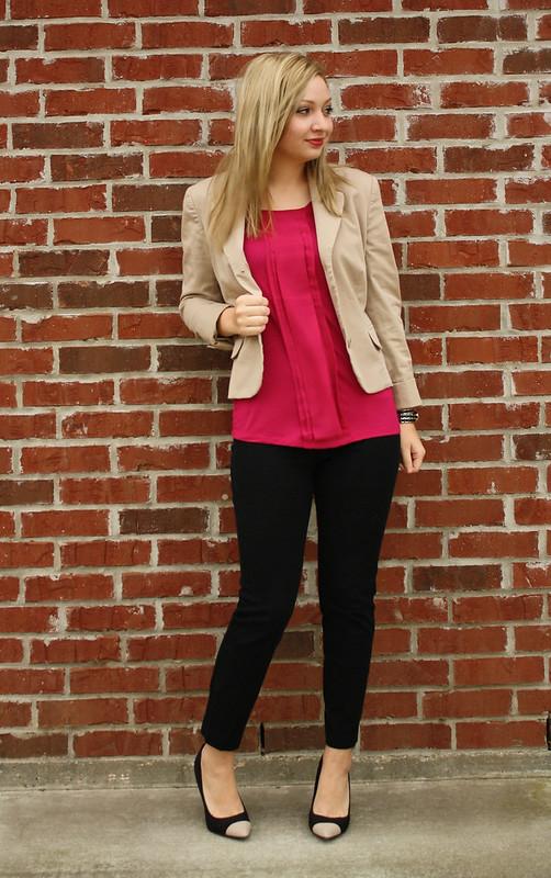 IMG_9121, goodwill blazer, thrifted blazer, charlotte russe heels, cap toe heels