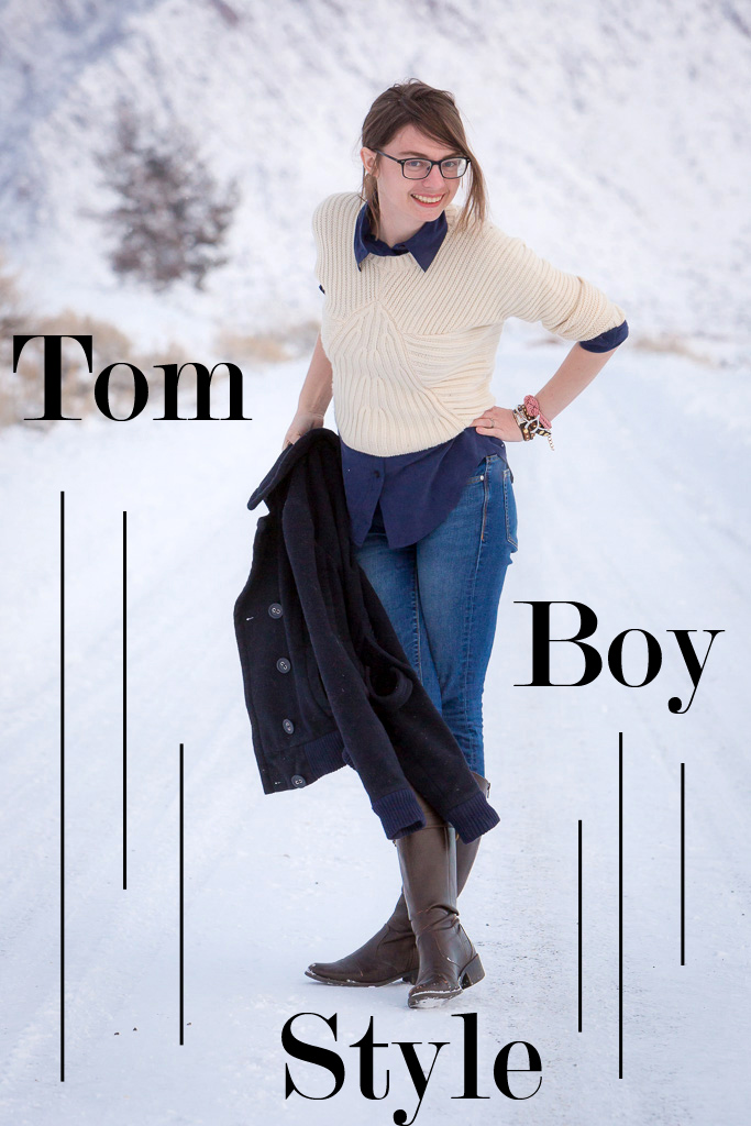 Tomboy, snow, never fully dressed, withoutastyle, sweater, layers, popbasic shirt,