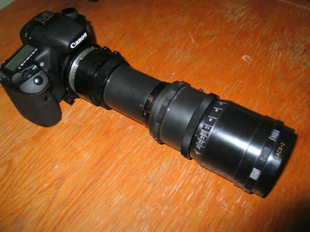 Canon 7D with lens 35BAS3-2  F = 200