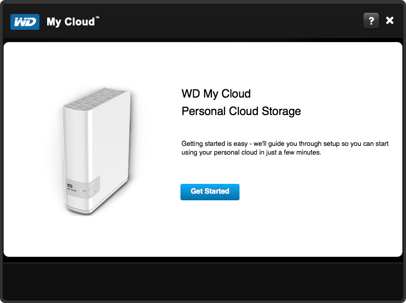 WD My Cloud Setup - Step 1
