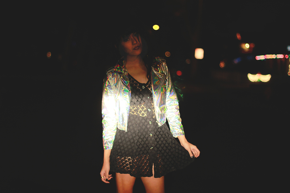 Trippin' Hologram Moto Jacket 24 Hrs Cult Lip Service at shoptarte.com Tarte Vintage