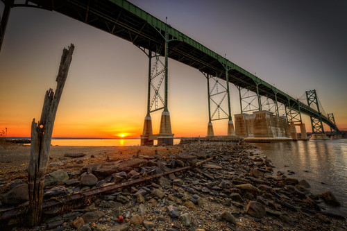 Sunset Under the Bridge by Frank C. Grace (Trig Photography)