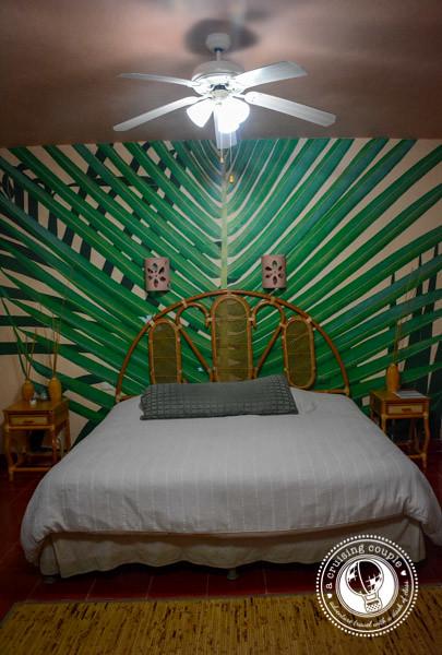 Mayan Mural at Casa Hamaca Guesthouse