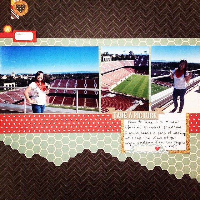 Scrappin' with my people! #ilovewhatido #ilovethishobby #iscrapped #scrapbook #scrapbooking #scrapbooklayout #nsd10k