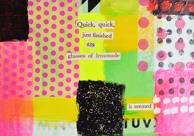 DIY Postcard: Quick, quick, just finished 439 glasses of lemonade - it seemed